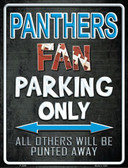 Panthers Metal Novelty Parking Sign
