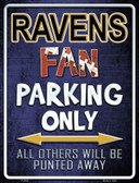 Ravens Metal Novelty Parking Sign