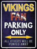 Vikings Metal Novelty Parking Sign