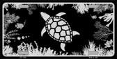 Turtle Black Brushed Chrome Novelty Metal License Plate