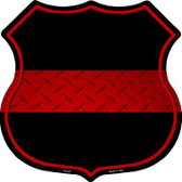 Thin Red Line Metal Novelty Highway Shield