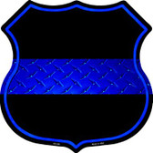 Thin Blue Line Metal Novelty Highway Shield
