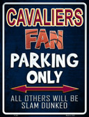 Cavaliers Metal Novelty Parking Sign