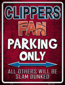 Clippers Metal Novelty Parking Sign