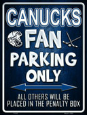 Canucks Metal Novelty Parking Sign