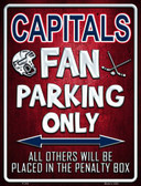 Capitals Metal Novelty Parking Sign