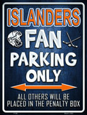 Islanders Metal Novelty Parking Sign