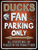 Ducks Metal Novelty Parking Sign
