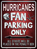 Hurricanes Metal Novelty Parking Sign
