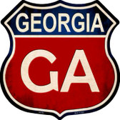 Georgia Metal Novelty Highway Shield