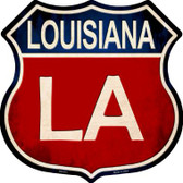 Louisiana Metal Novelty Highway Shield