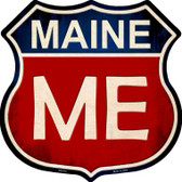 Maine Metal Novelty Highway Shield