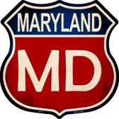 Maryland Metal Novelty Highway Shield