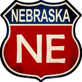 Nebraska Metal Novelty Highway Shield