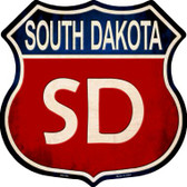 South Dakota Metal Novelty Highway Shield