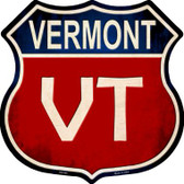 Vermont Metal Novelty Highway Shield