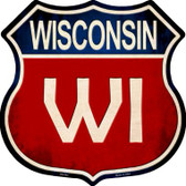 Wisconsin Metal Novelty Highway Shield
