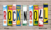 Rock N Roll Wood License Plate Art Novelty Metal Magnet