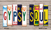 Gypsy Soul Wood License Plate Art Novelty Metal Magnet