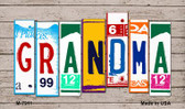 Grandma License Plate Art Novelty Metal Magnet