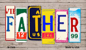 Father License Plate Art Novelty Metal Magnet
