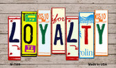 Loyalty License Plate Art Novelty Metal Magnet