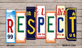 Respect License Plate Art Novelty Metal Magnet