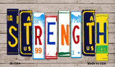 Strength License Plate Art Novelty Metal Magnet