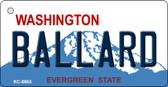 Ballard Washington Background Novelty Metal Key Chain