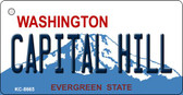 Capital Hill Washington Background Novelty Metal Key Chain