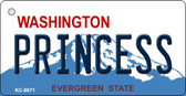 Princess Washington Background Novelty Metal Key Chain