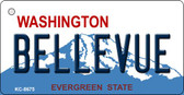 Bellevue Washington Background Novelty Metal Key Chain
