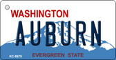 Auburn Washington Background Novelty Metal Key Chain