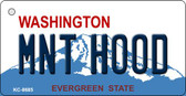 MNT Hood Washington Background Novelty Metal Key Chain