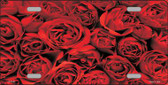 Red Roses Metal Novelty License Plate