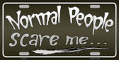 Normal People Novelty Metal License Plate