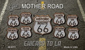 Route 66 Black Top Novelty Metal Magnet