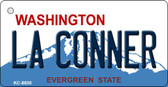 La Conner Washington Background Novelty Metal Key Chain