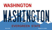 Washington State Background Novelty Metal Magnet