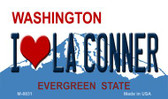 I Love La Conner Washington Background Novelty Metal Magnet