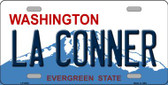 La Conner Washington Background Novelty Metal License Plate