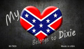My Dixie Heart Novelty Metal Magnet