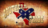 Southern Pride Texas Novelty Metal Magnet