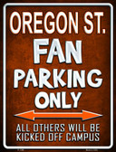 Oregon State Metal Novelty Parking Sign