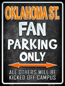 Oklahoma State Metal Novelty Parking Sign