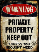 Private Property Metal Novelty Parking Sign