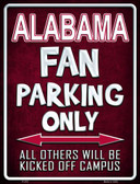 Alabama Metal Novelty Parking Sign