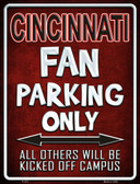 Cincinnati Metal Novelty Parking Sign