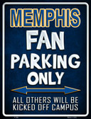 Memphis Metal Novelty Parking Sign