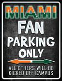 Miami Metal Novelty Parking Sign